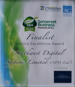 SDS Awarded Finalist at Somerset Business Awards 2014 for Service Excellence